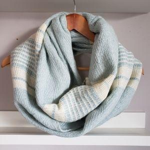 LOFT Cozy Cotton Blend Striped Infinity Scarf